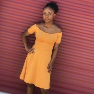 Sunny Days Criss Cross Back Dress(Golden Yellow)